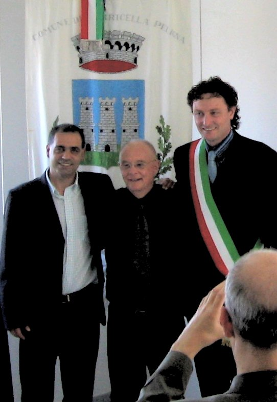 Dan Fante in Torricella, with Piero Ottobrini and Tiziano Teti